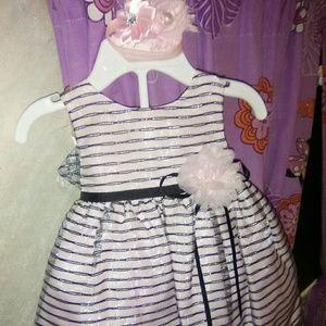 Pink/black baby girls Sunday best dress